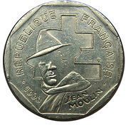 2 Francs (Jean Moulin) -  obverse