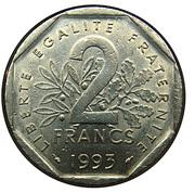 2 Francs (Jean Moulin) -  reverse