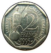 2 Francs (Louis Pasteur) -  reverse