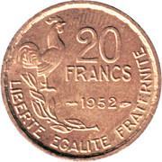 "20 Francs (signature ""G GUIRAUD"") -  reverse"