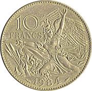 10 Francs (François Rude) -  reverse