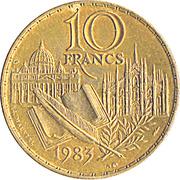 10 Francs (Stendhal) -  reverse