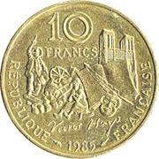 10 Francs (Victor Hugo) -  reverse