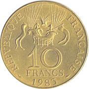 10 Francs Space Conquest -  reverse