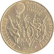10 Francs (Leon Gambetta) -  reverse
