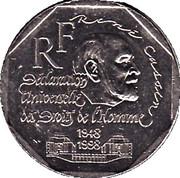2 Francs (Declaration of Human Rights) -  obverse