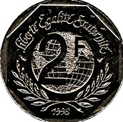 2 Francs (Declaration of Human Rights) -  reverse