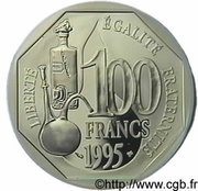 100 Francs (Louis Pasteur) -  reverse