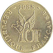 10 Francs (Roland Garros) -  reverse