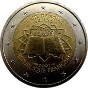 2 Euro (Treaty of Rome) -  obverse