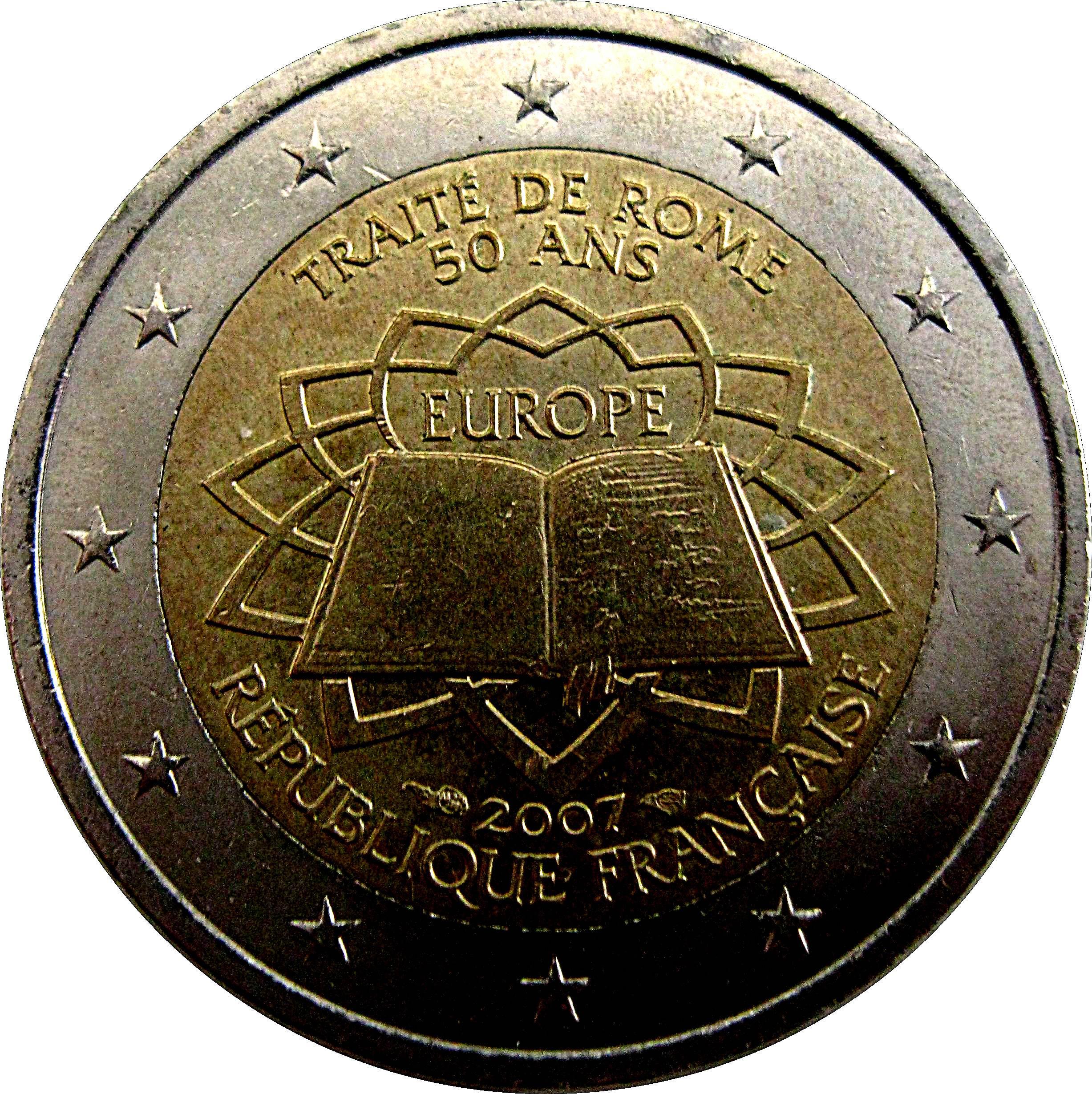 2 euro treaty of rome france modern numista