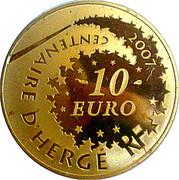 10 Euro (Tintin) – reverse
