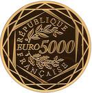 5000 Euro (Marianne Liberty)) – reverse
