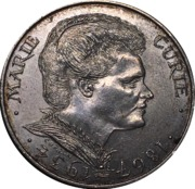 100 Francs (Marie Curie) -  reverse
