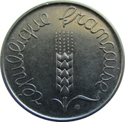 5 Centimes (5th republic) -  obverse