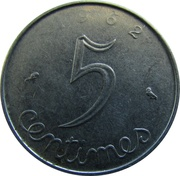 5 Centimes (5th republic) -  reverse