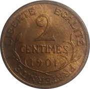 2 Centimes -  reverse