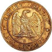 10 Centimes - Napoleon III -  reverse