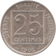 25 Centimes -  reverse
