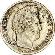 ¼ Franc - Louis-Philippe -  obverse