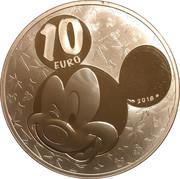10 euros Mickey – reverse