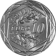 10 euros (30 years of fall of Berlin wall) – reverse