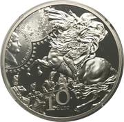 10 Euro (Franc Germinal) – reverse