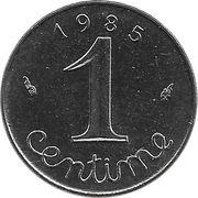 1 Centime (5th republic) -  reverse