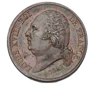 2 Francs - Louis XVIII (pattern of Michaut with an modul of 2 francs) – obverse