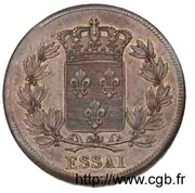 2 Francs - Louis XVIII (pattern of Michaut with an modul of 2 francs) – reverse