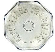Essai de frappe au module de 1 franc, 8 pans – obverse