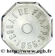 Essai de frappe au module de 1 franc, 8 pans – reverse