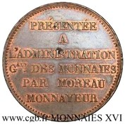 5 Franc (pattern of  virole by Moreau) – reverse