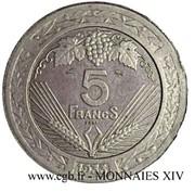 5 Francs (pattren of Vézien) -  obverse