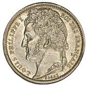 Essai de Bovy (au module du demi-franc en bronze-argenté) – obverse