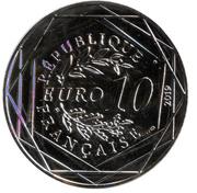 10 euros la guerre de cent ans – obverse