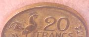 """20 Francs (signature """"GEORGES GUIRAUD"""")"""