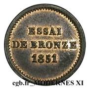Essai de bronze au module de un centime (Louis-Napoléon Bonaparte) – reverse