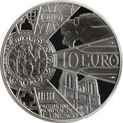 10 Euro (Reconstruction Notre-Dame de Paris) – reverse