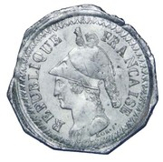 2 Decimes (pattern uniface of obverse by Lorthior) – obverse