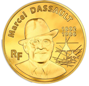 500 Euro (Marcel Dassault) – obverse