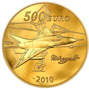 500 Euro (Marcel Dassault) – reverse