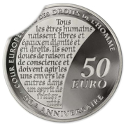 50 euros (Court of Human Rights ; silver) – reverse