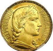 10 Francs (pattern by La Fleur) – obverse