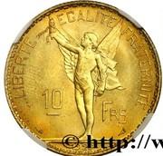 10 Francs (pattern by La Fleur) – reverse