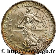 20 Francs (modul of 20 Francs Turin, 10th Anniversary of Peace) – reverse
