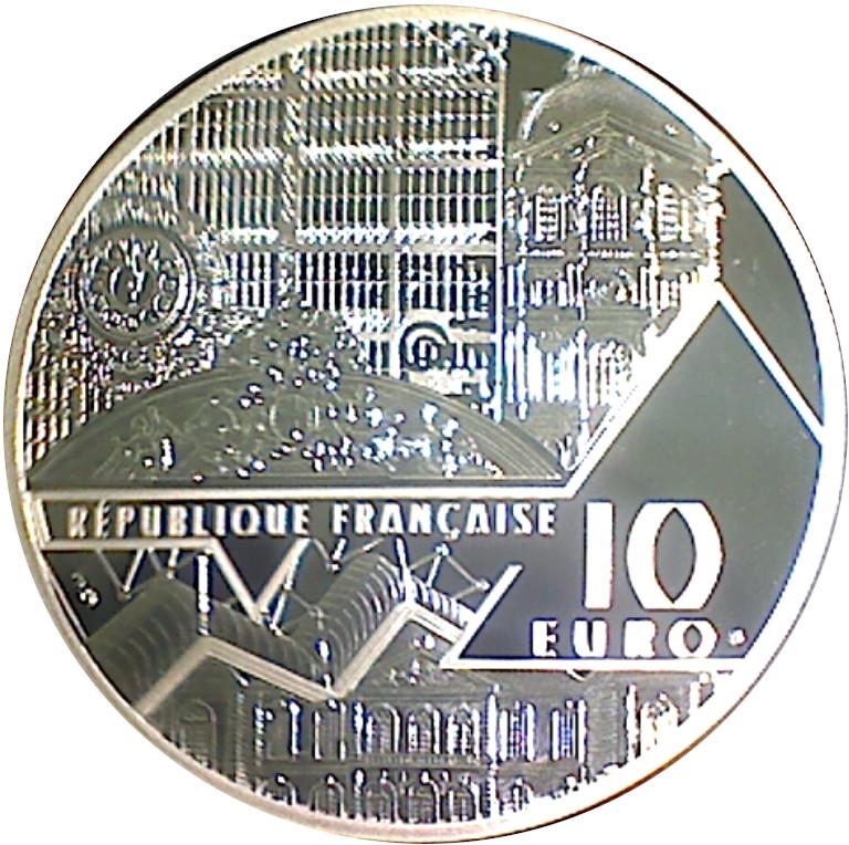 FRANCIA FRANCE 10 EURO SILVER  MICKEY NOTRE DAME DE PARIS CATHEDRAL @ RARE