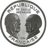 100 Francs (General de Gaulle / Adenauer) -  obverse
