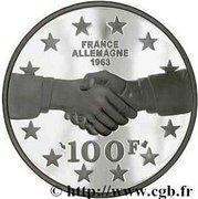 100 Francs (General de Gaulle / Adenauer) -  reverse