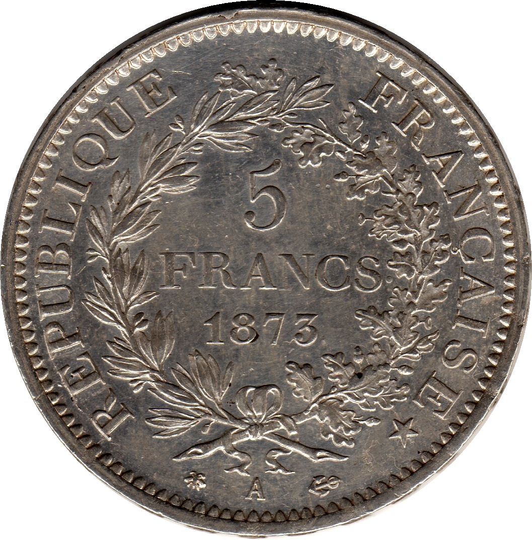 5 francs france numista for France francs